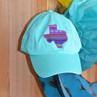 Mint Texas serape hat