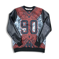 Street Love 90 Leather Sleeve Sweatshirt