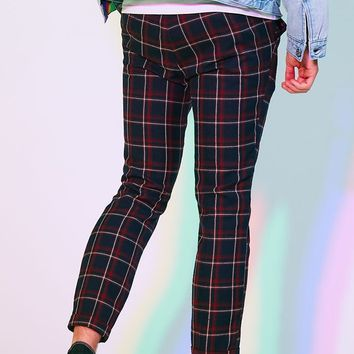PacSun Editor's Choice Skinniest Plaid Drainpipe Pants at PacSun.com