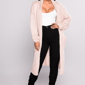 Cardi Love Sweater - Mauve