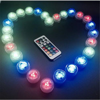 12pcs Wedding Decoration Remote Control Waterproof Submersible Mini LED Light With Battery For Halloween Christmas Party-8z