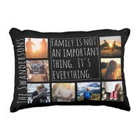 Personalized Eight Frame Quote Accent Pillow