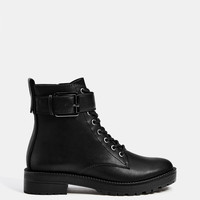 Biker ankle boots with buckles - SHOES - Bershka United States