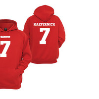 Unisex Colin Kaepernick san francisco 49ers red hoodie sweater for men's and ladies