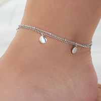 BEING BOHEMIAN ANKLET - SILVER