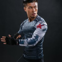3D Winter Soldier Avengers 3 Compression Shirt