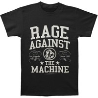 Rage Against The Machine Men's  Crown College T-shirt Black