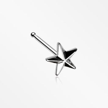 Nautical Star Icon Nose Stud Ring