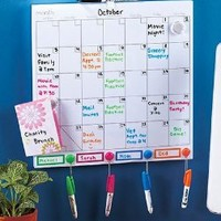 Color-Coded Dry Erase Calendar Set: Office Products