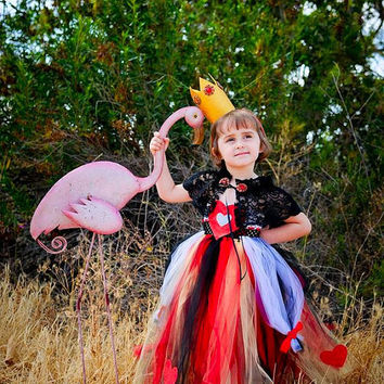 Queen of Hearts, Red Queen, Alice in Wonderland, Queen of Hearts Tutu, Queen Costume, Halloween Costume, Outfit of Choice, Heart Tutu Dress