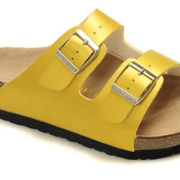 Birkenstock summer fashion men's and women's cork flat shoes slippers casual sandals
