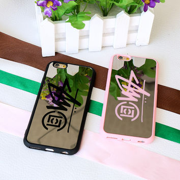 Stylish Iphone 6/6s On Sale Hot Deal Cute Alphabet Iphone Mirror Couple Phone Case [8226356929]