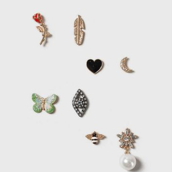 Butterfly Rhinestone Pin Pack | Topshop