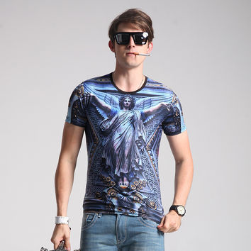 Tee Soft Print Design Men's Short Sleeve Men's Fashion T-shirts = 6450206403