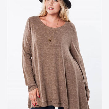 Heather Mocha Tunic by Umgee Plus