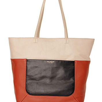 Isaac Mizrahi New York Lillian Canvas and Leather Tote Bag