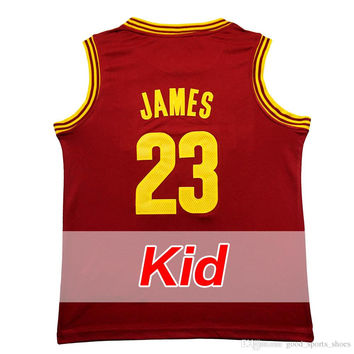 HOT 2016 LeBron James Kids jersey youth adlut 2# Kyrie Irving 100% stitched Throwback basketball jerseys high quality fast shipping