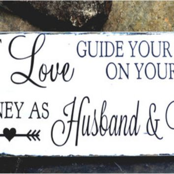 Wedding Decor Signs Gift Arrow Adventure Love Life Journey Saying Retro Husband Wife Quote
