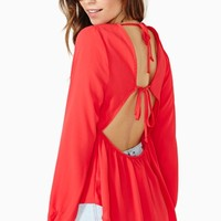 Reverie Tied Top - Poppy