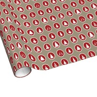 Red and White Christmas Trees Wrapping Paper