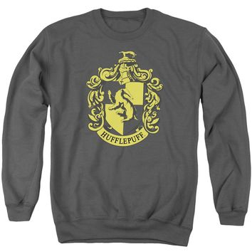 Harry Potter - Hufflepuff Crest Adult Crewneck Sweatshirt Officially Licensed Apparel