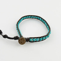 Turquoise OM Single Wrap Bracelet