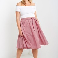 Picnic Chic Gingham Circle Skirt Plus Size