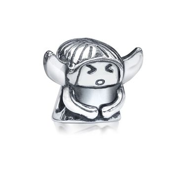 Guardian Angel Inspirational Bead Charm 925 Sterling Silver