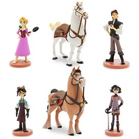 Disney Store Tangled The Series Figure Play Set Rapunzel Pascal Eugene New