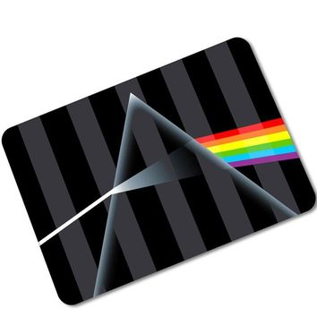 MDCT Modern Black Striped Geometric Arts Door Mats Area Rugs 3D Rainbow Butterfly Bedroom Living Room Entrance Floor Mats Carpet