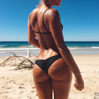 2017 Hot Sale Cheap Brazilian Bikini Bottoms Tanga Womens Ladies Sexy Thong Bikini bottom Bathing Beach Short bas de bikini
