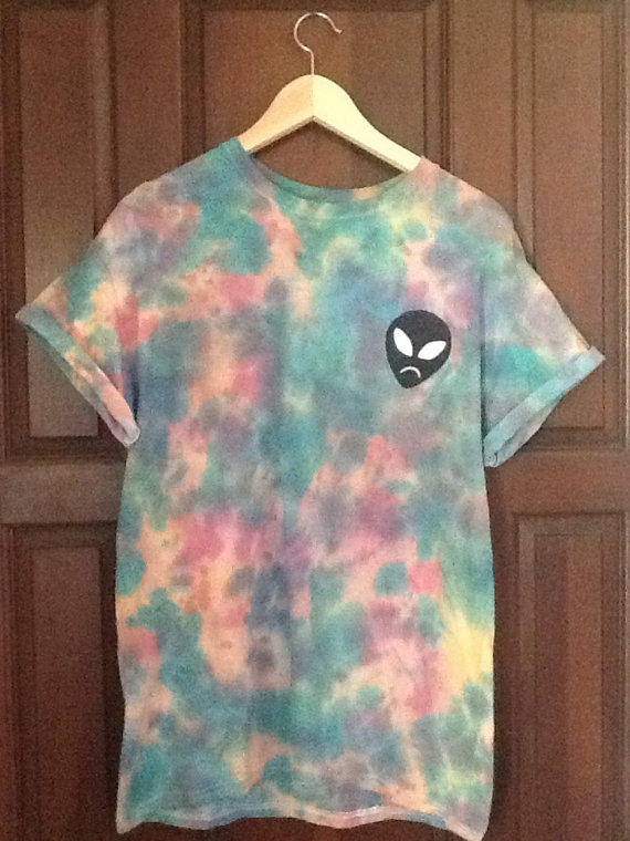 Cotton Candy Alien Designed Tie Dye From Wreckedvibes