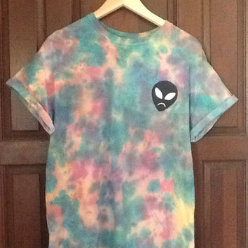 COTTON CANDY ALIEN Designed Tie -Dye Hipster Shirt