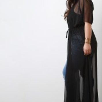 Semi-Sheer Maxi Cover Up