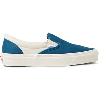Vans - OG Classic LX Two-Tone Canvas Slip-On Sneakers