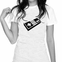 The Original Nintendo Controller Black And White by trulysanctuary
