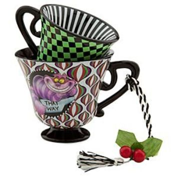 Alice in Wonderland Tea Cup Ornament - The Cheshire Cat | Disney Store