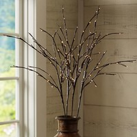 FAUX LED LIT BRANCH