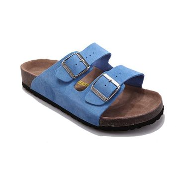 Birkenstock Arizona Sandals Suede Baby Blue