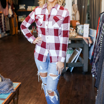 Penny Flannel Top