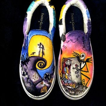 Nightmare before Christmas slip on shoes.