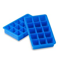 Blue Silicone Ice Cube Tray