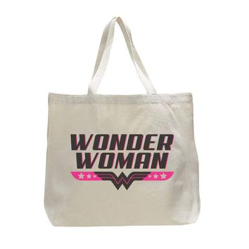 e7cf7bb0fe4155 Wonder Woman - Trendy Natural Canvas Bag - Funny and Unique - To