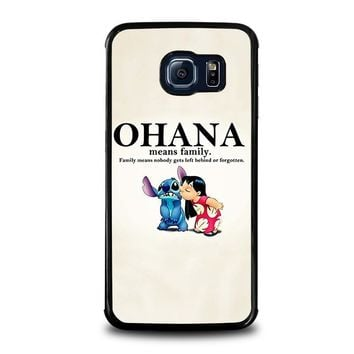 lilo and stitch ohana family disney samsung galaxy s6 edge case cover  number 1