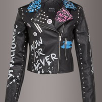 Rebel Soul Faux Leather Moto Jacket