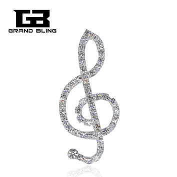 Bling Music Theme Brooch Pin Jewelry