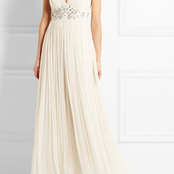 Needle & Thread - Embellished chiffon gown
