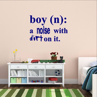 Boy Definition Wall Decal - Noise with Dirt Dictionary Decal 22448