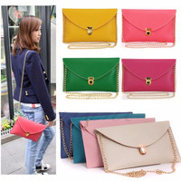 Envelope Chain Strap Clutch Handbag
