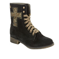 MTNG Originals Studded Black Suede Worker Boots